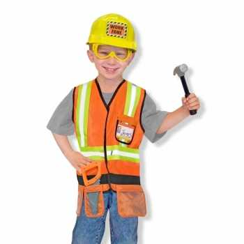 Foute kinder party kleding bouwvakker