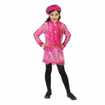 Foute kinder party kleding roetveegpiet roze