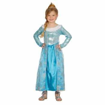 Foute kinderparty kleding blauw prinses jurkje