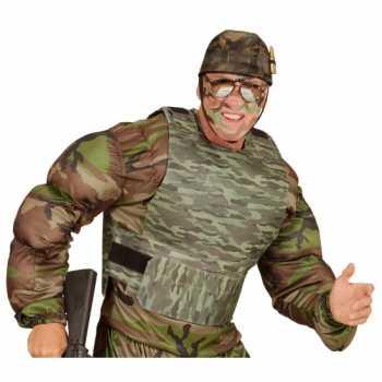Foute kogelvrij leger camouflage vest party kleding accessoire