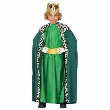 Foute koning mantel groen party kleding voor kinderen