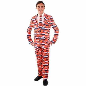 Foute koningsdag party kleding vlag nederland pak voor heren