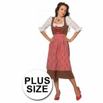 Foute lang tiroler grote maat party kleding voor dames