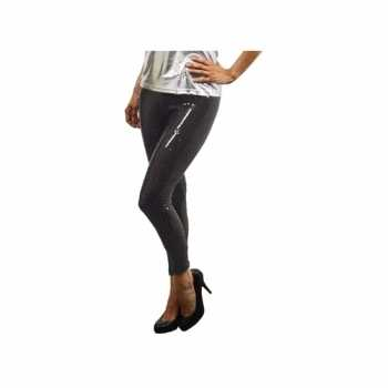 Foute legging met zwarte pailletten party