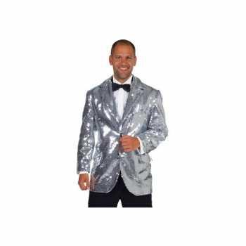 Foute luxe blazer zilver voor mannen party