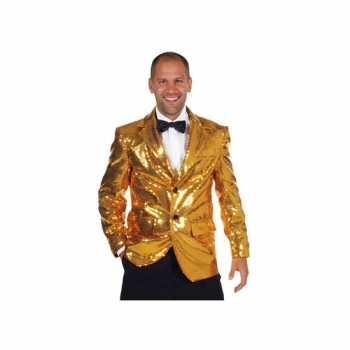 Foute luxe gouden blazers voor mannen party