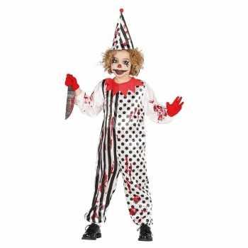 Foute luxe halloween party kleding horror pierrot voor kids