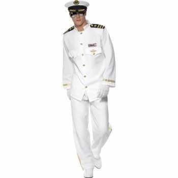 Foute luxe kapitein party kleding voor heren