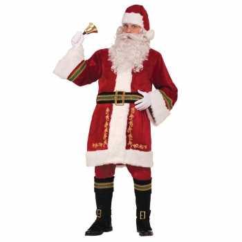 Foute luxe kerstman party kleding voor heren