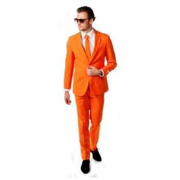 Foute luxe oranje party kleding inclusief das
