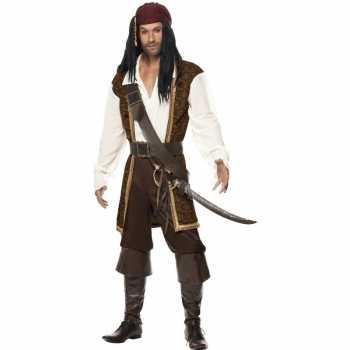 Foute luxe piraten party kleding voor heren