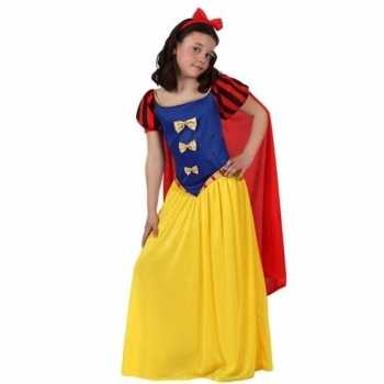 Foute luxe sprookjesprinses party kleding met cape