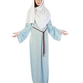 Foute maria party kleding met hoofddoek