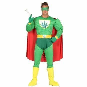 Foute marihuana man superheld party kleding voor heren