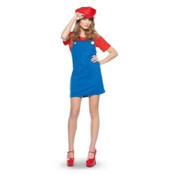 Foute mario dames party kleding