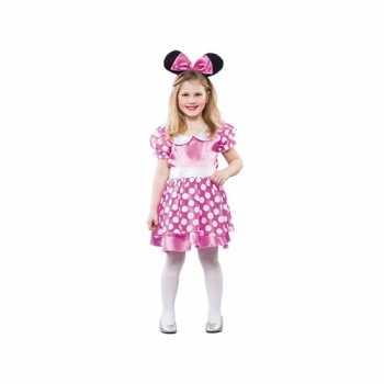 Foute meisjes roze muis party kleding
