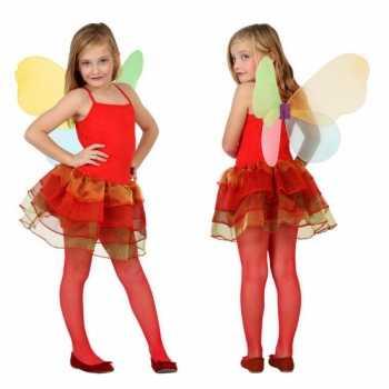 Foute meisjes vlinder party kleding rood