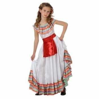 Foute mexicaans meisje party kleding met rood schortje