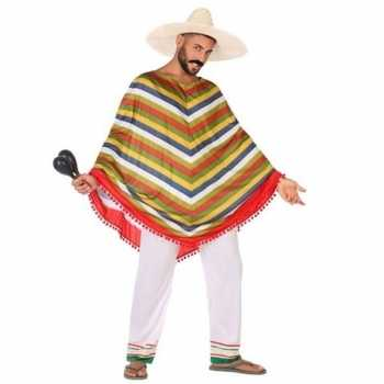Foute mexicaans party kleding/poncho voor heren