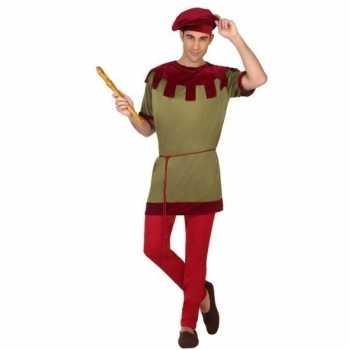 Foute middeleeuws page party kleding voor heren