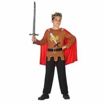 Foute middeleeuwse ridder/koning arthur party kleding jongens