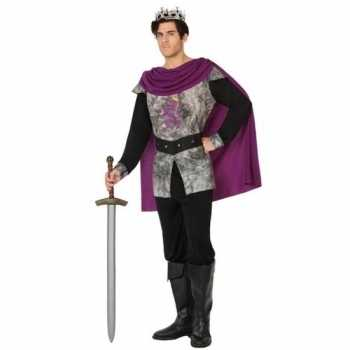 Foute middeleeuwse ridder/koning party kleding voor heren