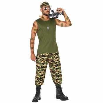 Foute militair/soldaat pak/party kleding voor heren