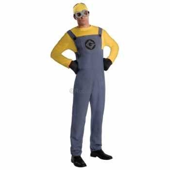 Foute minion party kleding voor heren geel