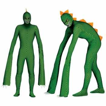 Foute monster reptielen party kleding met lange armen voor heren