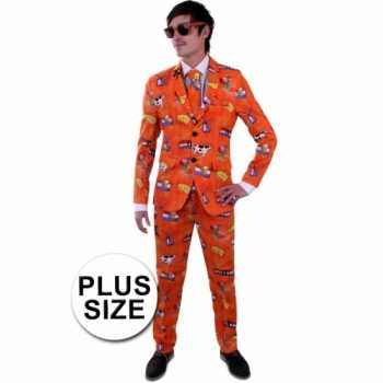 Foute nederland party kleding grote maat pak voor heren