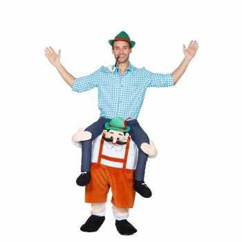 Foute oktoberfest party kleding man op tiroler