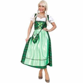 Foute oktoberfest party kleding met groene schotse ruit