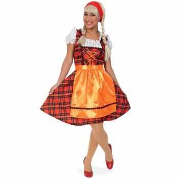 Foute oktoberfest party kleding met schotse ruit
