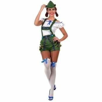 Foute oktoberfest sexy oktoberfest pak/party kleding groen voor dames