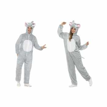 Foute olifant onesie party kleding voor volwassenen