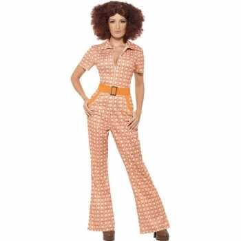 Foute oranje jaren 70 party kleding voor dames