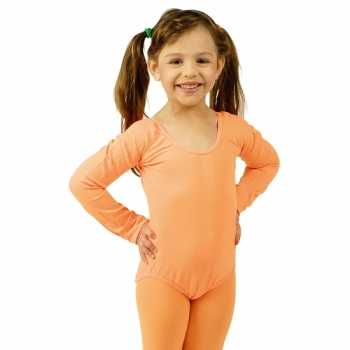 Foute oranje kinder ballet party kleding