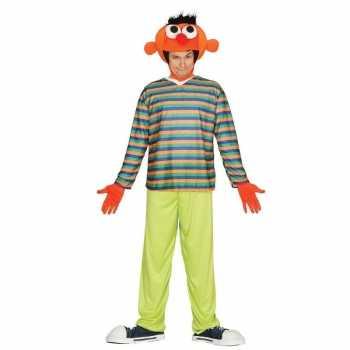 Foute oranje pop ernie party kleding voor heren