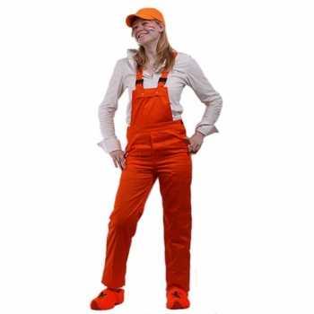 Foute oranje tuinbroek verstelbaar party