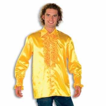 Foute overhemd geel met rouches heren party