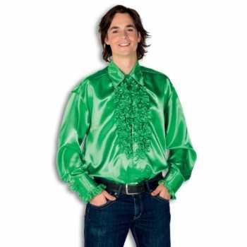 Foute overhemd groen met rouches heren party