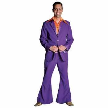 Foute paars jaren 70 party kleding heren
