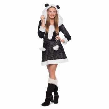 Foute panda dierenparty kleding jurkje voor dames