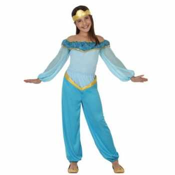 Foute party kleding blauwe arabische prinses