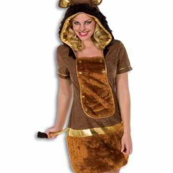 Foute party kleding dames leeuw