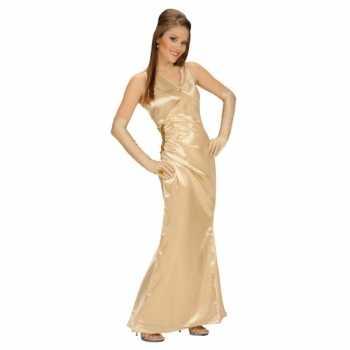 Foute party kleding gouden jurk voor dames