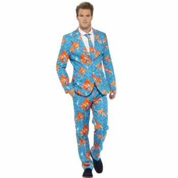 Foute party kleding heren maatpak goudvissen