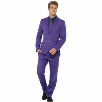 Foute party kleding heren maatpak paars