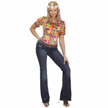 Foute party kleding hippie shirt dames
