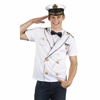 Foute party kleding kapitein heren shirt
